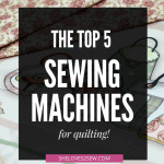 sewing machine for quilting