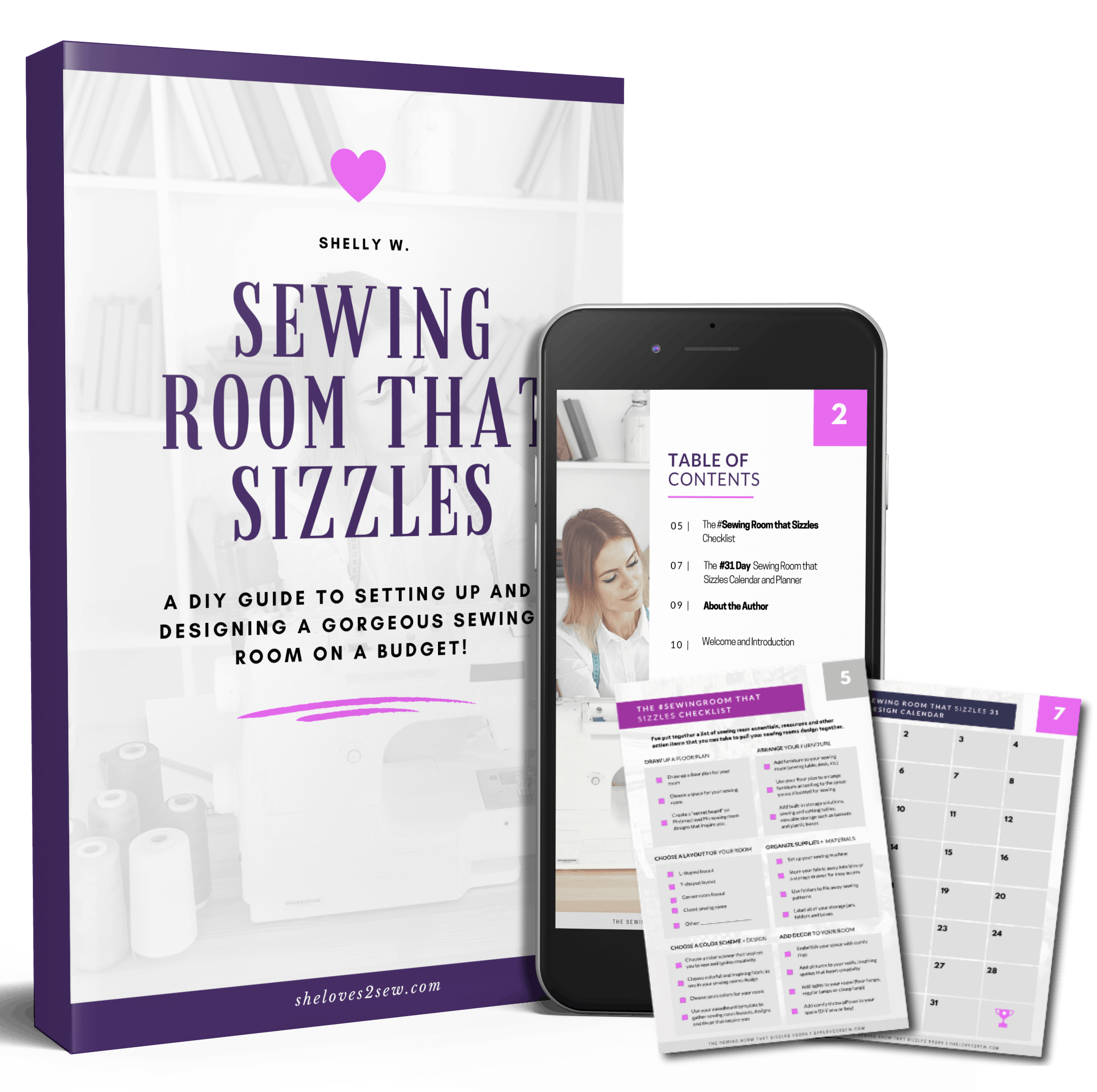 Sewing Room Design eBook and Workbook